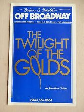 1994 - Brian C. Smith's Theatre Playbill - The Twilight Of The Golds - Tench