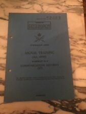 Australian Army Signal Training All Arms #6 Communications Security 1971