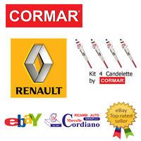 KIT 4 CANDELETTE RENAULT MEGANE 1.5 1.9 2.0 DCI DA ANNO 2002 CORMAR