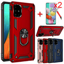 For Samsung Galaxy A51 A71 5G Case Ring Stand Shockproof Cover Screen Protector