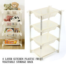 4 Layers Kitchen Storage Rack Stacking Basket Fruits Vegetables Stand Organiser