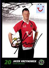 Jacek Krzynowek Autogrammkarte Hannover 96 2009-10 Original Signiert + A 120578