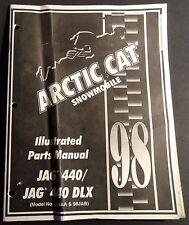 1998  ARCTIC CAT JAG 440 & 440 DLX SNOWMOBLE  PARTS  MANUAL p/n 2255-755 (407)