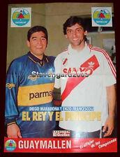 """FRANCESCOLI - MARADONA - RIVER - BOCA - Poster 21,26"""" x 16,14"""" Argentina 1995"""