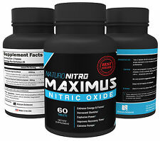 Maximus Nitric Oxide Tablets By Naturo Nitro, High Potency NO Booster, 60 CT