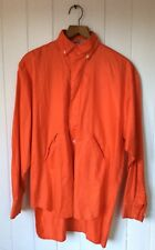 Vintage 1980's Interpole Red Cotton Long Sleeved Blouse Made in France Size L