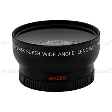 0.45X Wide Angle Lens + Macro for ALL SONY 37mm HVR HD1000U