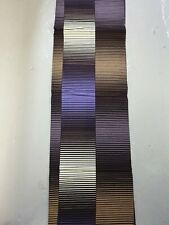 Brown, purple and cream Ankara fabric 100% cotton African wax print. 6 yards