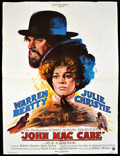 MCCABE AND MRS MILLER 1971 Warren Beatty, Julie Christie FRENCH POSTER