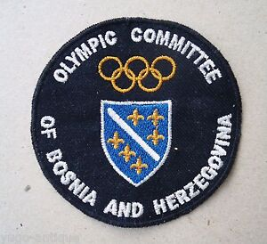 ex-Yugoslavia Bosnia NOC jacket patch 1996 Olympics Atlanta ONLY 9 ATHLETES RARE