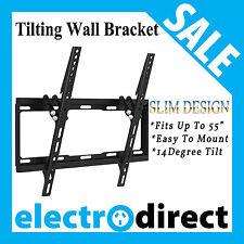 """32""""- 55"""" LED LCD Flat Television Tilt TV Wall Mount Bracket Slim Design"""