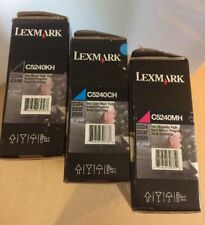 Genuine Lexmark C5240CH C5240MH C5240kH Toners For C524, C534 NEW It/224
