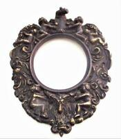 Putti Cherubs Antique Brass Picture Photograph Frame c1890