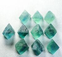 10pcs Rare Natural Blue Green octahedron Fluorite Crystal Mineral Specimen/China