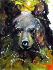 Mary Roberson Black Bear Cub 8 x 10.5 Plus Margin