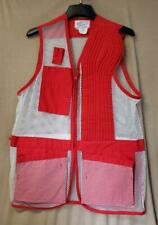 Seams Sportswear Red & White Shooting Clay Left Shoulder Mesh Vest Size 46 c