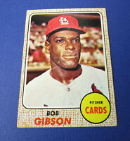 1968 Topps Bob Gibson #100 HOF Cardinals--Beautiful Card!!