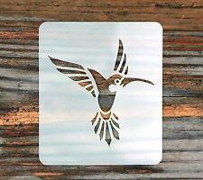 Single Hummingbird Face Paint Stencil 7cmx 6cm 190micron Washable Reusable Mylar