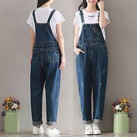 2017 Retro Women Casual Denim Dungaree Jumpsuit Overalls Jeans Harem Pants