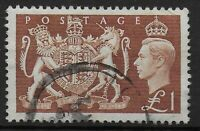SG512. 1951 Festival £1 Brown. Good/Fine Used. Well Centred,Good Perfs. Ref:0238