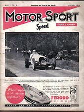 Motor Sport Volume XV No 9  Sept 1939 Lagonda 6cyl 30HP Mercedes Benz Prescott +