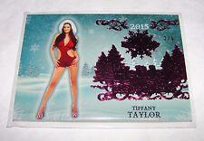 2015 Benchwarmer TIFFANY TAYLOR Holiday #13 Pink Foil SP/5 PLAYBOY - True Blood