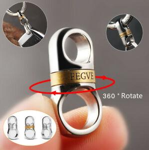Titanium alloy capsule 360°rotating car keychain key ring accessories FEGVE