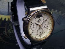 Seiko Chronograph Moon phase Side Second Date Quartz 7448A Movement Wrist Watch
