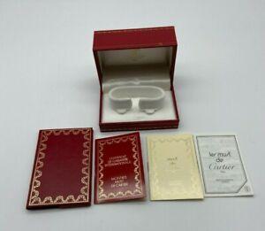 Must de Cartier Watch box case 522 Booklet guarantee rare #568