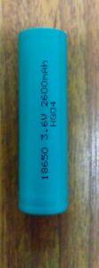 pile accu batterie lithium NMC INR 18650 2600mAh 3.6V