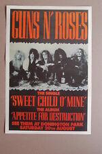 Guns n Rosses Donington Park 1988 Concert Poster #1