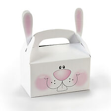 12 Easter Bunnies Bunny Treat Boxes With Ears Basket Filler Egg Hunt Prize Tote