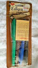 Sanford'S Calligraphy Pen Set Original Vintage Pkg Ben Franklin 2.5 Mm Tip