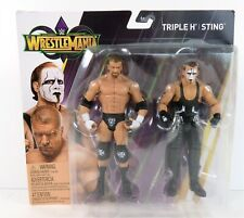 WWE Wrestlemania Battle Pack STING & TRIPLE H Figure Set Damaged Card
