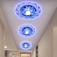 LED Plafonnier Chambre de Cristal en Rond Plat Spot LED Luminaire Moderne Lampe