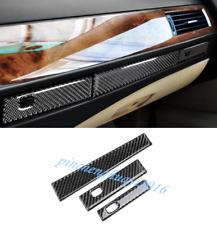 Real Carbon Fiber Center Console Decor Cover Trim  For BMW 5 Series E60 2005-10