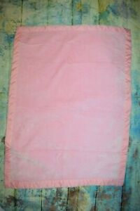 Carter's Solid Pink Fleece Flat Satin Trim Baby Girl Plush Crib Blanket