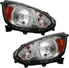 Halogen Headlights Headlight Assembly NEW Set Pair for 14-18 Mitsubishi Mirage