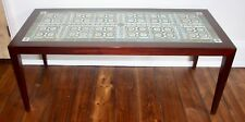 Rare Vintage Danish Rosewood Coffee Table with Royal Copenhagen Tiles