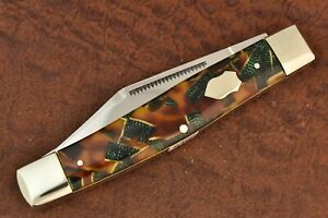 BULLDOG BRAND SOLINGEN GERMANY CELLULOID JUMBO STOCKMAN KNIFE 2004 NICE (8466)