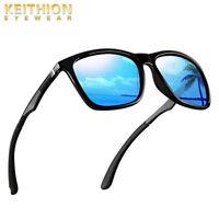 KEITHION Polarized Sunglasses For Men Rectangular Aluminum  Driving Eyewear