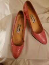 Crearioni Arpa Genuine Vintage  Alligator Pink pumps  Size 7 1/2 N