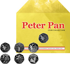Isle Of Man- 2019 - Peter Pan Six 50 Pence Coin Collection - Circulating Quality