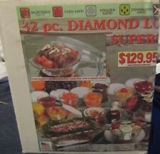 Anchor Hocking 32 piece Diamond Lovenware Super Set Cookware w/ Lids NEW IN BOX!