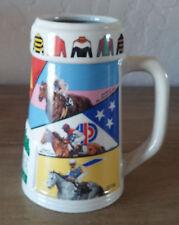 Vintage 1996 Oak Tree Horse Race Thoroughbred Stein Mug Ferdinand Santa Anita
