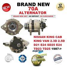POUR NISSAN KING CAB Van 2.3D 2.5D D21 E24 SD25 E24 TD23 TD25 87 - > 70 A Alternateur