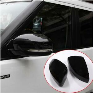 For Land Rover Range Rover Sport 2014-2019 Black Rearview Mirror Cover Cap