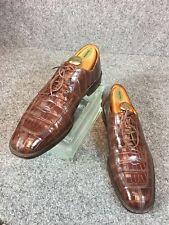 * MEZLAN Platinum * Brown Alligator Derby Split-Toe Shoes w/ Rubber Soles 10.5D