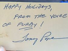 Original 1998 Furby - Box signed by Voice of Furby Tony Pope & Signed Card