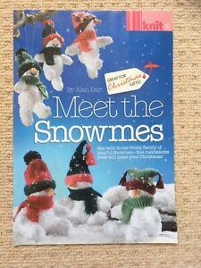 ALAN DART MEET THE SNOWMES KNITTING PATTERN - Fun Snow Gnomes